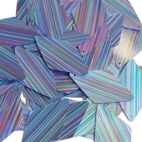 "Long Diamond Sequin 1.75"" Light Blue City Lights Metallic Reflective"
