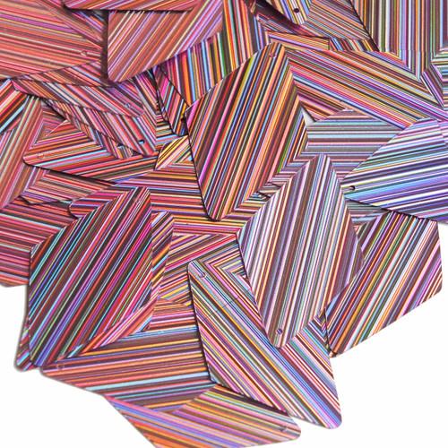 "Long Diamond Sequin 1.75"" Pink City Lights Metallic Reflective"