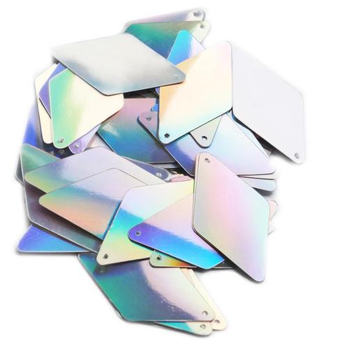 "Long Diamond Sequin 1.75"" Silver Lazersheen"