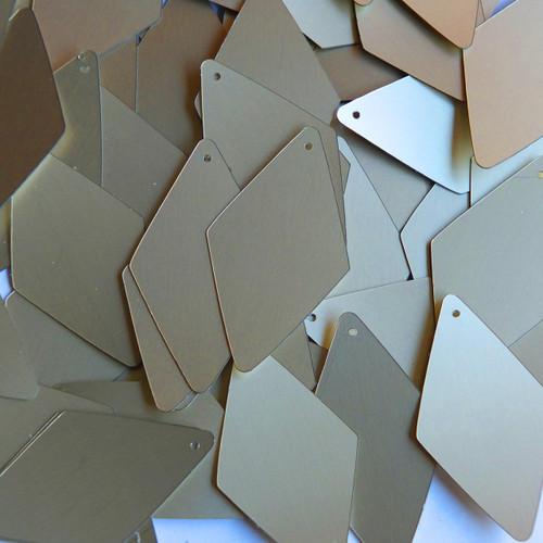 """Long Diamond Sequin 1.75"""" White Gold Matte Silk Frost Matte Silk Frost"""