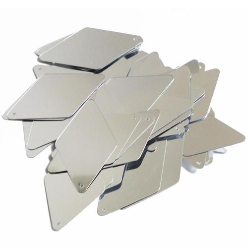 """Long Diamond Sequin 1.75"""" Silver Metallic"""
