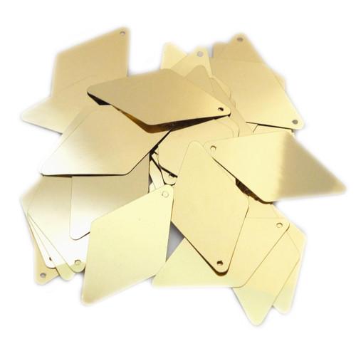 "Long Diamond Sequin 1.75"" Gold Metallic"