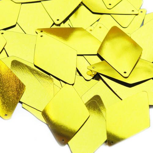 "Long Diamond Sequin 1.75"" Yellow Metallic"
