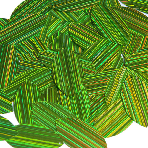 "Navette Leaf Sequin 1.5"" Lime Green City Lights Metallic"
