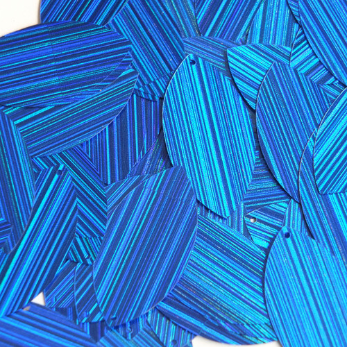 "Navette Leaf Sequin 1.5"" Royal Blue City Lights Metallic Reflective"
