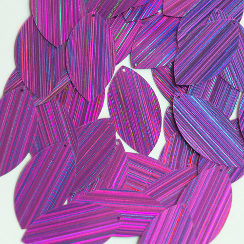 "Navette Leaf Sequin 1.5"" Purple City Lights Metallic Reflective"
