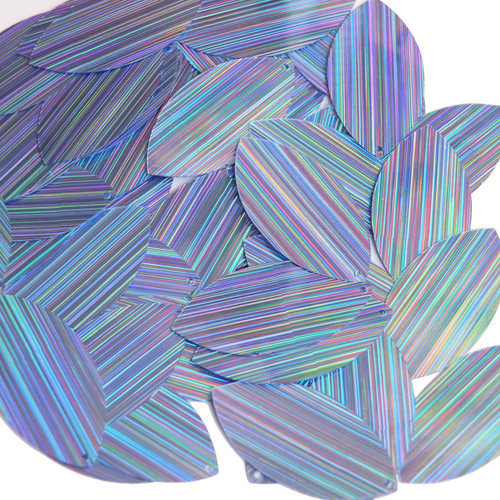 "Navette Leaf Sequin 1.5"" Light Blue City Lights Metallic Reflective"