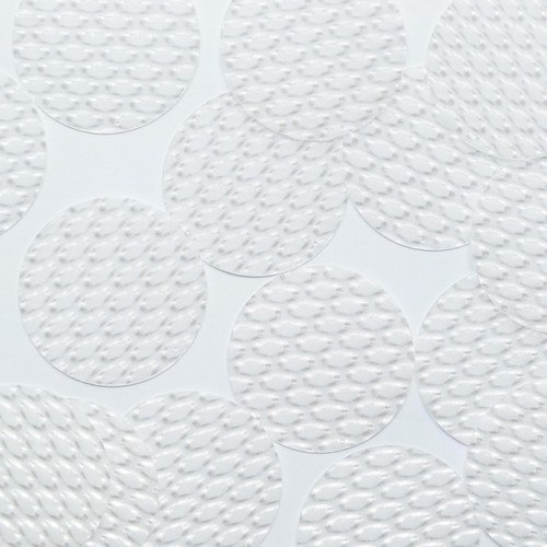 """Oval Sequin 2"""" Crystal White 3D Three Dimensional Reflector"""