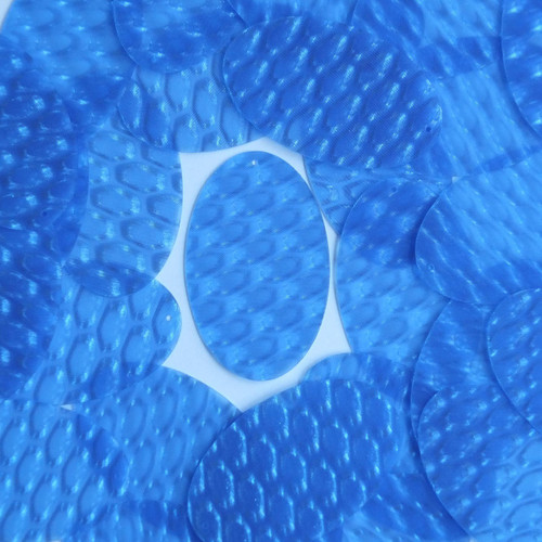 """Oval Sequin 2"""" Blue 3D Three Dimensional Reflector"""
