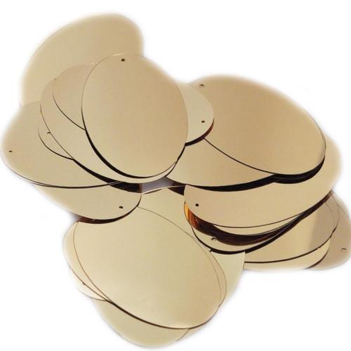 "Oval Sequin 2"" Gold Metallic"
