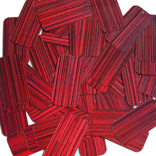 "Rectangle Sequin 1.5"" Red Wine Burgundy City Lights Metallic Reflective"
