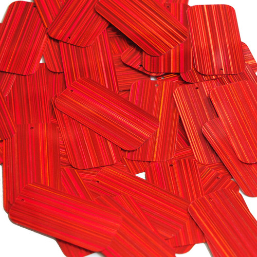"Rectangle Sequin 1.5"" Red City Lights Metallic Reflective"