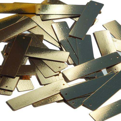 "Sequin Skinny Rectangle 1.5"" Gold Metallic"