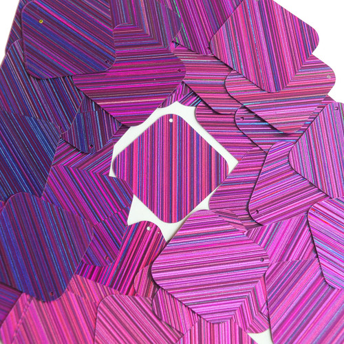 "Square Diamond Sequin 1.5"" Purple City Lights Metallic Reflective"