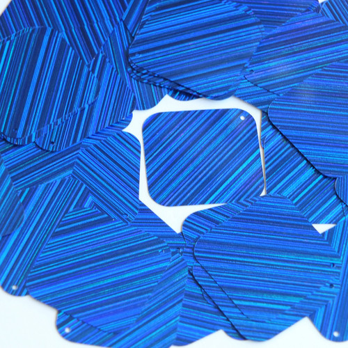 "Square Diamond Sequin 1.5"" Royal Blue City Lights Metallic Reflective"