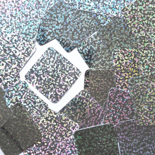 "Square Diamond Sequin 1.5"" Silver Hologram Glitter Sparkle Metallic"