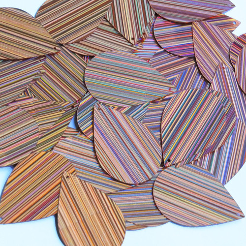 "Teardrop Sequin 1.5"" Peach City Lights Metallic Reflective"