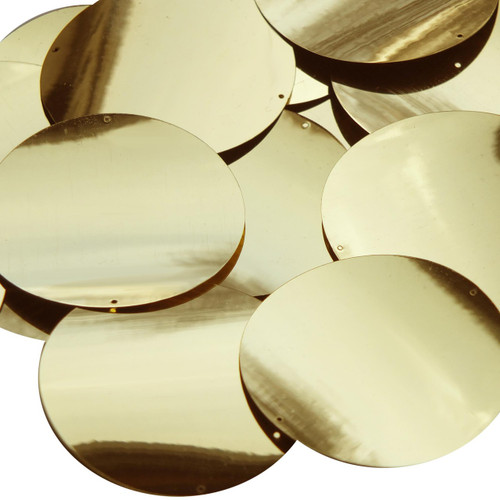 60mm Sequins Gold Metallic Two Hole