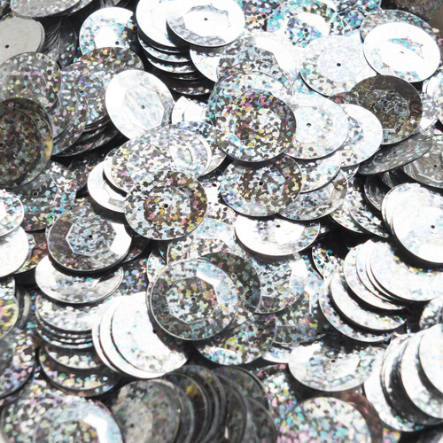 20mm Cup Sequins Silver Metallic