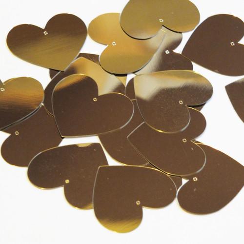 Heart Sequin 35mm Gold Metallic
