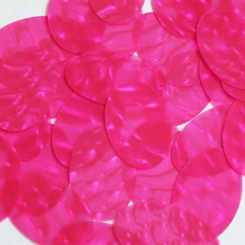"Oval Sequin 2"" Super Hot Passion Pink Bubble Illusion"