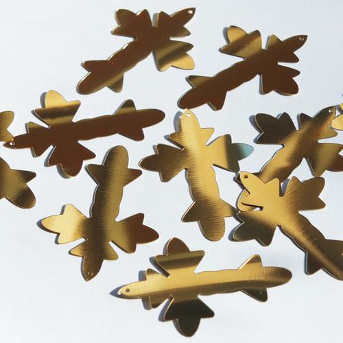 """Fleurie Cross Sequin 2"""" Gold Metallic"""