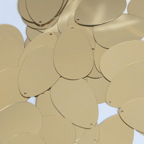 "Oval Egg Sequin 1.5"" Gold Metallic"