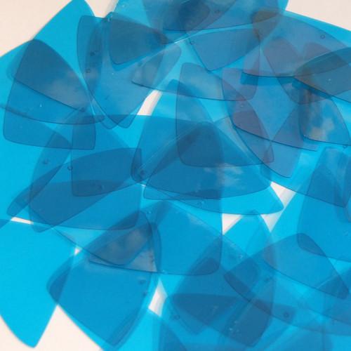 "Fishscale Vinyl Shape 1.5"" Blue Go Go Transparent"