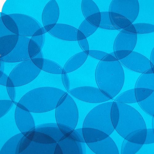 Round Vinyl Shape 40mm Blue Go Go Transparent