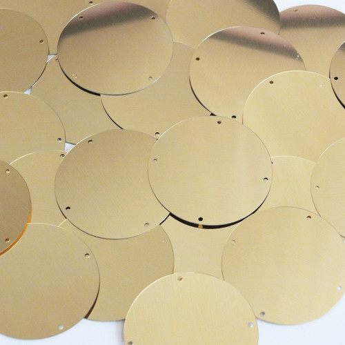 Round Sequins 40mm 4 hole Gold Metallic