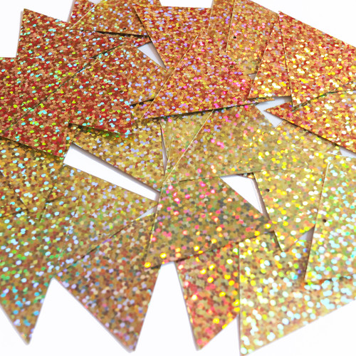 Sequin Pennant 40mm Gold Hologram Glitter Sparkle Metallic Made in USA