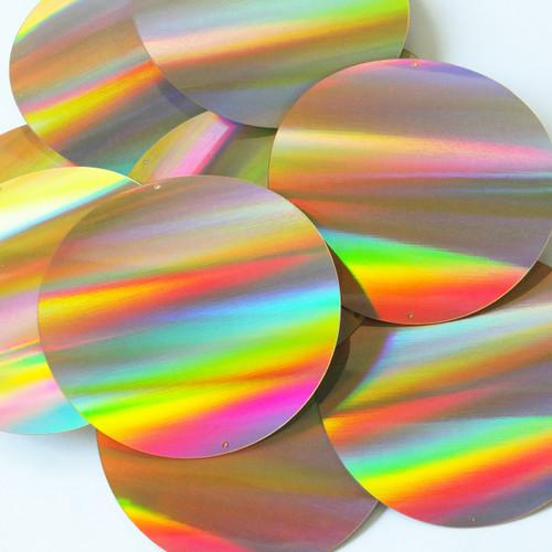 Round Sequins 70mm No hole Gold Lazersheen Reflective Metallic
