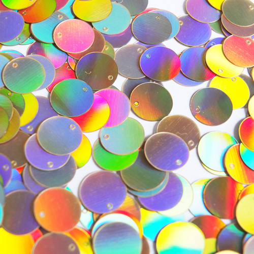 Round Sequins 12mm Gold Lazersheen Reflective Metallic