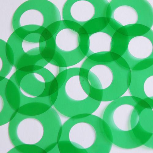 "1.5"" Offcenter Donut Vinyl Go Go Trans Green"