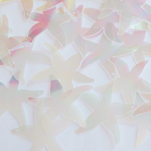 "Starfish Sequins 1.5"" Clear Crystal Iris Luminescent"