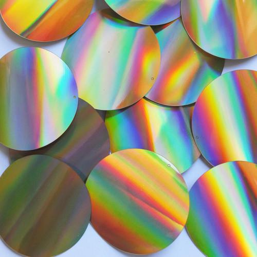 Round Sequins 60mm Gold Lazersheen Reflective Metallic