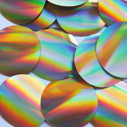 Round Sequins 60mm No hole Gold Lazersheen Reflective Metallic