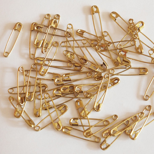 """2/"""" or 52mm Made in USA Pack Silver Safety Pins Size 3 100"""