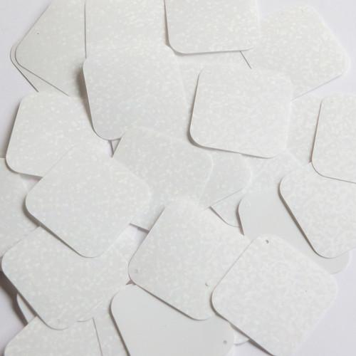 Square Diamond Sequin 1.5 White Matte Silk Frost Couture Paillettes