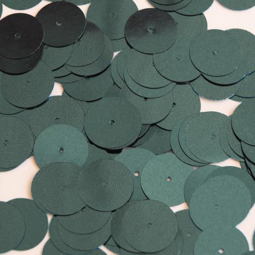 Round Sequin 15mm Dark Gray Olive