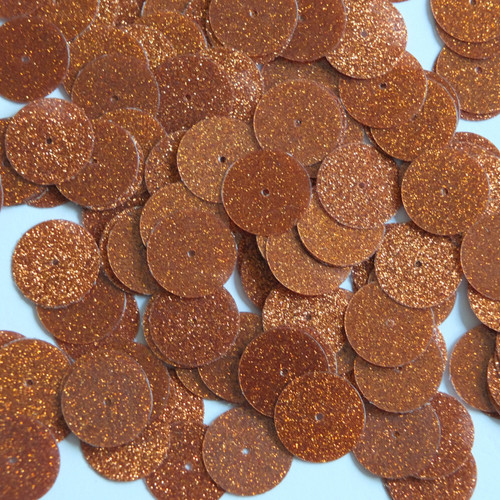 Round sequins 15mm Orange Metallic Sparkle Glitter Texture