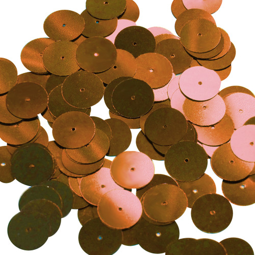 Round sequins 15mm Burnt Orange Metallic