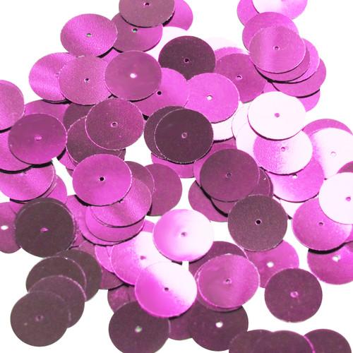 Round sequins 15mm Bright Pink Metallic