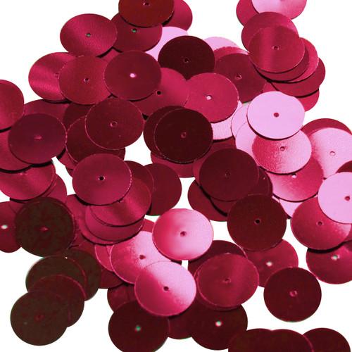Round sequins 15mm Red Wine Metallic