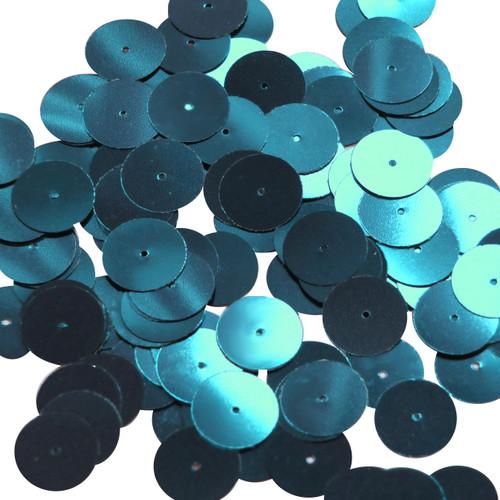 Round sequins 15mm Sapphire Blue Metallic