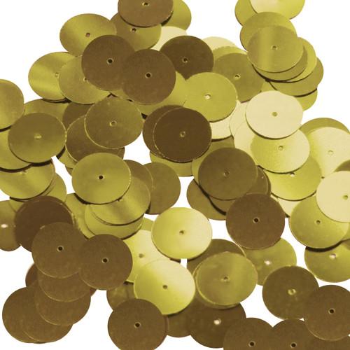 Round sequins 15mm Gold Metallic
