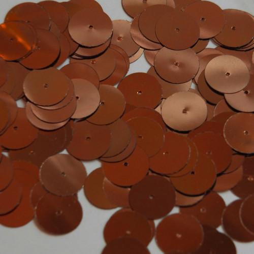 Round sequins 15mm Chestnut Brown Metallic