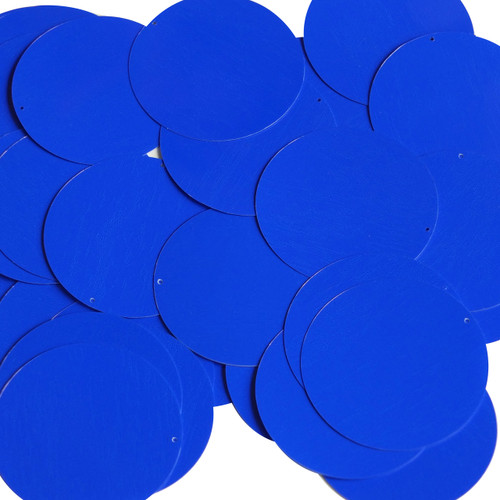 Round sequins 40mm Royal Blue Opaque Glossy High Shine