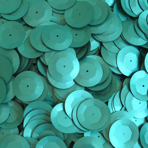 20mm Cup Round Sequins Light Green Matte Silk Frost