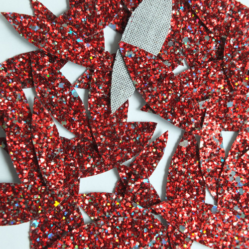 Red Fireworks Glitter Fabric  Super Sparkle